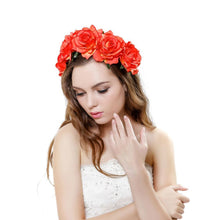 2018 New Spring Fashion Women Lady girls Wedding Flower Wreath Crown Headband Floral Garlands Hair band Hair Accessories