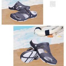 2017 New Men Male Summer Beach Slippers Hole Hollow Out Ventilating Men shoes Breathable Beach Sandals with solid color  Hot