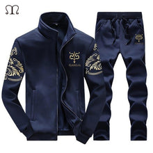 2018 Men Sportwear Sets Tracksuit Male Outwear Sweatshirts Patchwork Men Hoodies Stand Collar Cardigan Printed Male Tracksuit