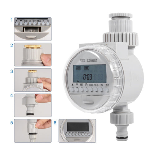 Garden Watering Timer LCD Automatic Electronic irrigation Controllers Water Timer Home Digital Intelligence Watering System