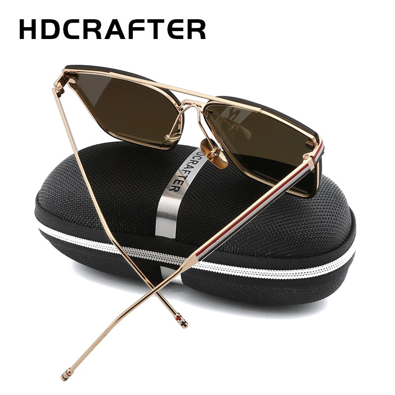 a2d7b828079 ... Hot Sell HDCRAFTER Unisex Fashion Sunglasses Big Frame Outdoor UV400 Sun  Glasses for Driving ...