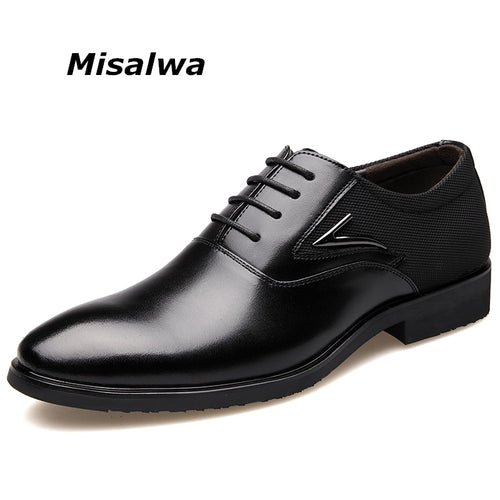 Misalwa Plus Size Men's Dress Shoes Business Shoes Men Formal Shoes Elegant Gentle Men Oxfords Free Drop Shipping