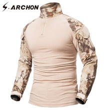 S.ARCHON Multicam Uniform Military Long Sleeve T Shirt Men Camouflage Army Combat Shirt Airsoft Paintball Clothes Tactical Shirt
