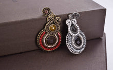 Antique Jewelry 2017 New Fashion Party Dresses Bohemia Style Enamel Beads Statement Drop Earrings Vintage Jewelry for Women