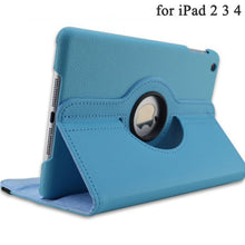 360 Degrees Rotating PU Leather Flip Cover Case for iPad 2 3 4 Case Stand Cases Smart Tablet A1395 A1396 A1416 A1430 A1458 A1460