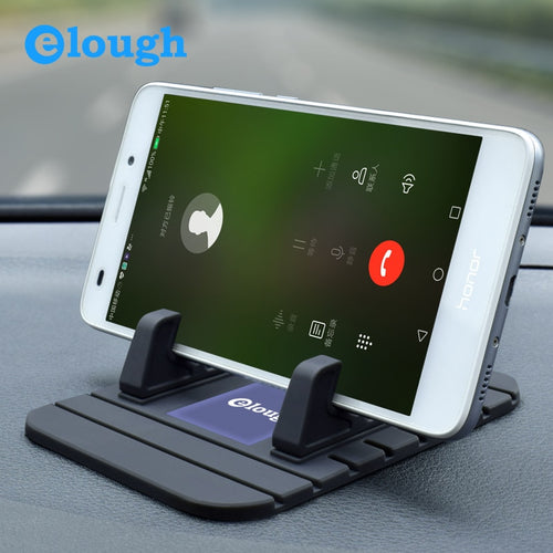 Elough Universal Car Holder Support Movil Car Phone Holder For Samsung S8 S9 Note8 xiaomi huawei Soft Silicone Mobile Car Holder
