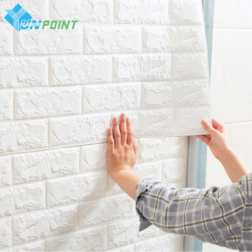 3D Wall Stickers Wall Brick Pattern Self Adhesive Wallpaper For Bedroom Living Room DIY Home Decor Waterproof Anti-collision