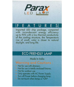 Parax 7 Watt Standard 2 Pin LED Bulb  (White, Pack of 10)