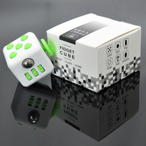 Fidget Cube (WHITE & GREEN)