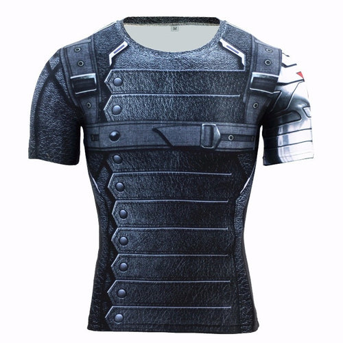 Winter Soldier 3D Printed T-shirts Men T Shirt Captain America Civil War Tee Marvel Avengers iron man Fitness Male Crossfit Tops