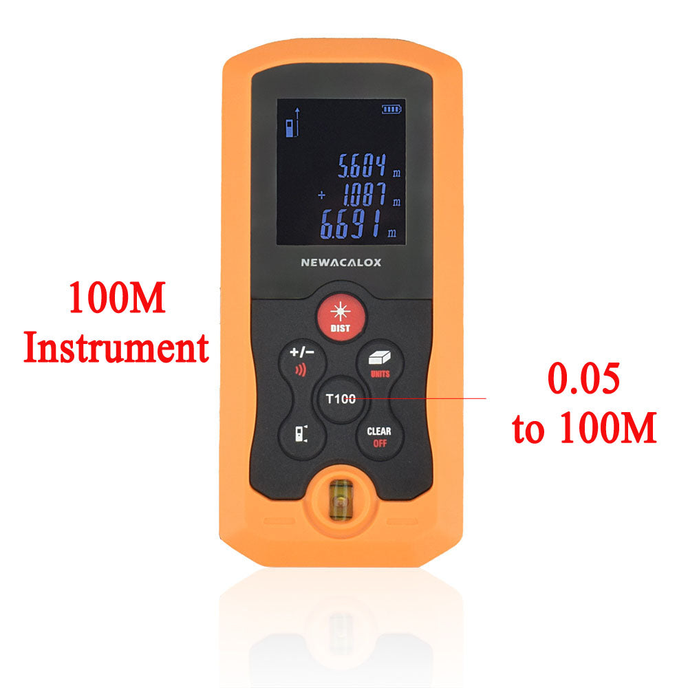 NEWACALOX IP54 Laser Distance Meter 40M 70M 100M Mini Laser Rangefinder Tape Range Finder Electronic Measure Construction Tool