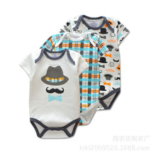 3 Pieces/lot Brand Summer Baby Boys Romper Animal style Short Sleeve cotton infant rompers Jumpsuit cotton Baby Newborn Clothes