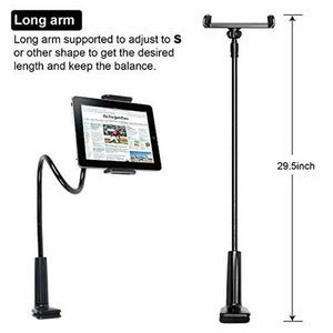 X3 iLike Smart Phone Holder, Gooseneck Flexible Lazy Arm Mount and Stand for Both Mobiles and Tablets Used at Desktop