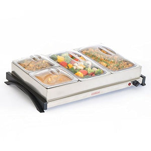CLEARLINE 4 PAN SS FOOD WARMER AND BUFFET SERVER