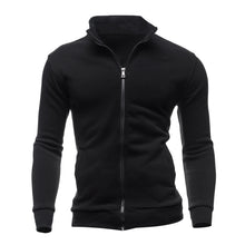 NEW Stand Collar Fleece Jacket Hoodies Men Fashion Solid Color Zipper Pockets Sweatshirt Autumn Winter Warm Male Tracksuit Coat