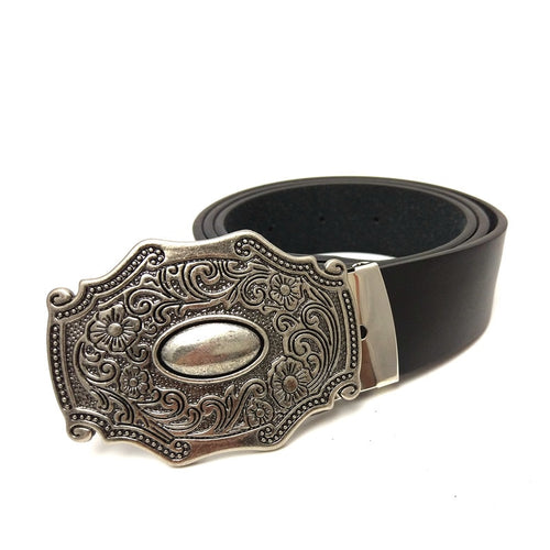 Western cowboy Belts for men vintage leather belt men with retro belt buckle metal mens accessories belt for jeans