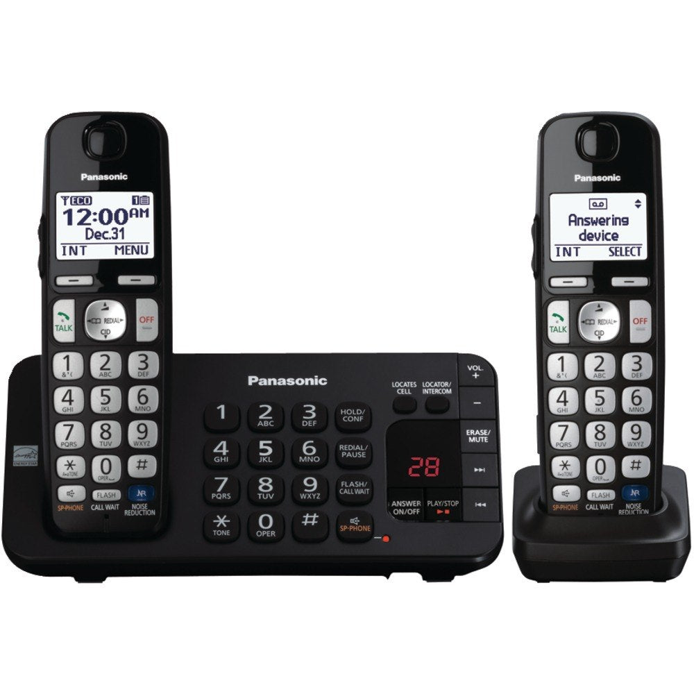 Panasonic KX-TGE243B DECT 6.0 Plus Expandable Digital Cordless Answering System (3-Handset System) (