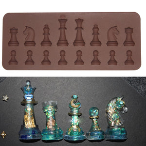 AIHOME 1PCS Chess Shape Silicone Cake Molds Fondant Cake Jelly Candy Chocolate Mold DIY Bakware Decorate