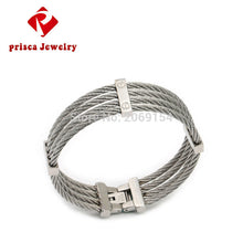 Stainless Steel Wire Bracelet 2017 New Charm Bangle  Silver Man Fashion Jewelry Titanium Steel Chain Link Bracelet Bangle Trendy