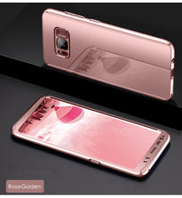 For Samsung Galaxy S7 Edge S8 Plus Case Luxury Ultra Thin Bling Mirror 360 Full Protection Cover For Galaxy S8 Plus Case 2 in 1