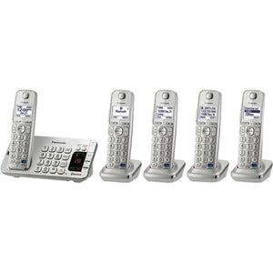 "Panasonic KX-TGE275S DECT 6.0 Link-to-Cell Bluetooth(R) Phone System (5-Handset System) (""PANKXTGE275S"")"