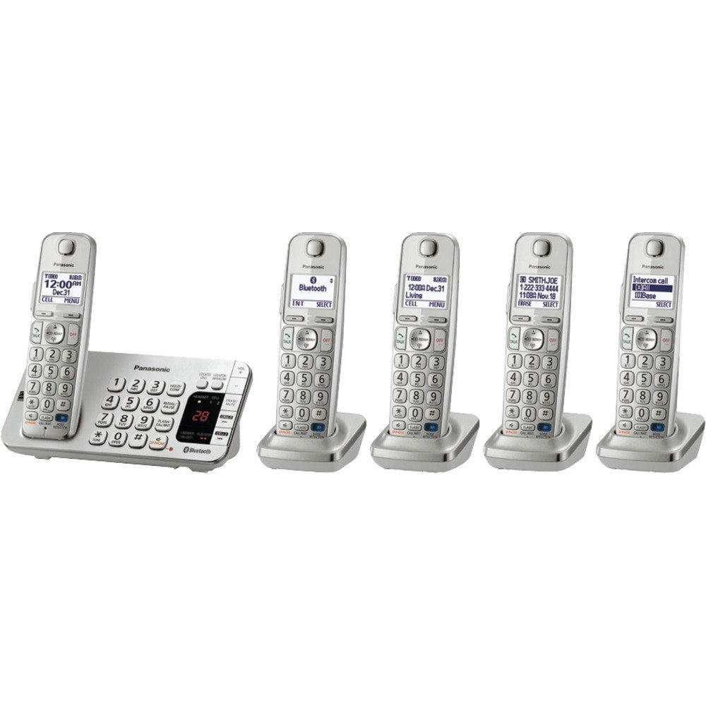 Panasonic KX-TGE275S DECT 6.0 Link-to-Cell Bluetooth(R) Phone System (5-Handset System) (