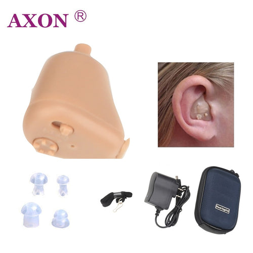 AXON Hearing Aids Ear Aid Sounds Amplifier Mini Rechargeable In Ear Invisible K-88 Audiphone Hear Clear for the Elderly Deaf