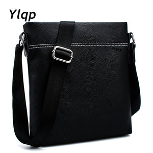 2017 Famous Brand Leather Men Shoulder Bag Casual Business Satchel Mens Messenger Bag Vintage Men's Crossbody Bag bolsas male