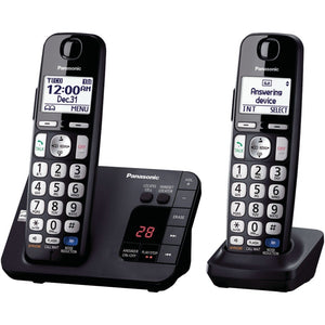 "Panasonic KX-TGE232B DECT 6.0 Plus Expandable Digital Cordless Answering System (2-Handset System) (""PANKXTGE232B"")"