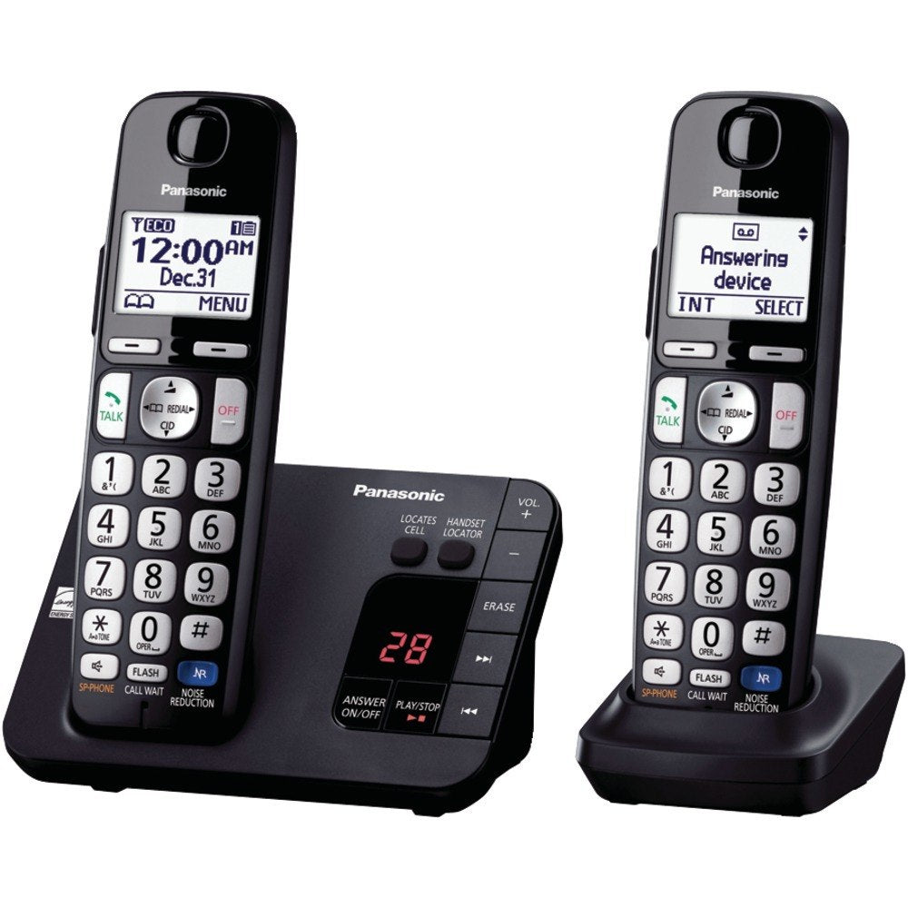 Panasonic KX-TGE232B DECT 6.0 Plus Expandable Digital Cordless Answering System (2-Handset System) (