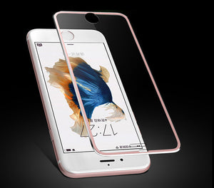 3D Aluminum Alloy Tempered Glass For iPhone 6 6S 7 Plus 5 5S SE Full Cover screen protector protective film for iPhone 6 6s case