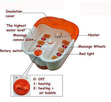 Feet Care Foot bath Tub For Massage, Vibration, Bubble) - (White/Orange)