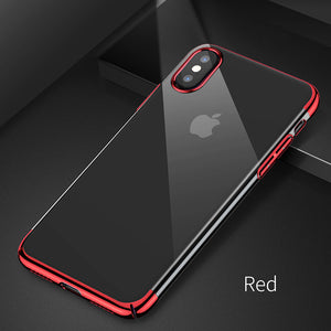 Baseus Luxury Plating Case For iPhone X 10 Capinhas Ultra Thin Electroplating Hard PC Back Cover Case For iPhone X Shell Coque