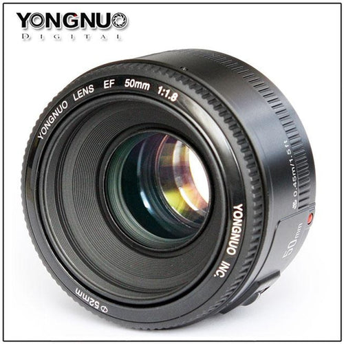 YONGNUO 50mm F/1.8 large aperture auto focus lens EF AF/MF YN50mm Lente For Canon EOS 600D 550D 70D 700D 1100D 1200D DSLR Camera