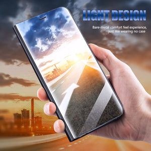 Luxury Flip Stand Smart Mirror View Case For iPhone X 8 7 Plus 6 6s Phone Cover Cases For iPhone 6 6s Plus 7 8 X Case Shell