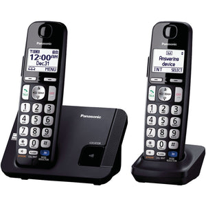 "Panasonic KX-TGE212B DECT 6.0 Plus Amplified Expandable Digital Cordless Phone System (2-Handset System) (""PANKXTGE212B"")"