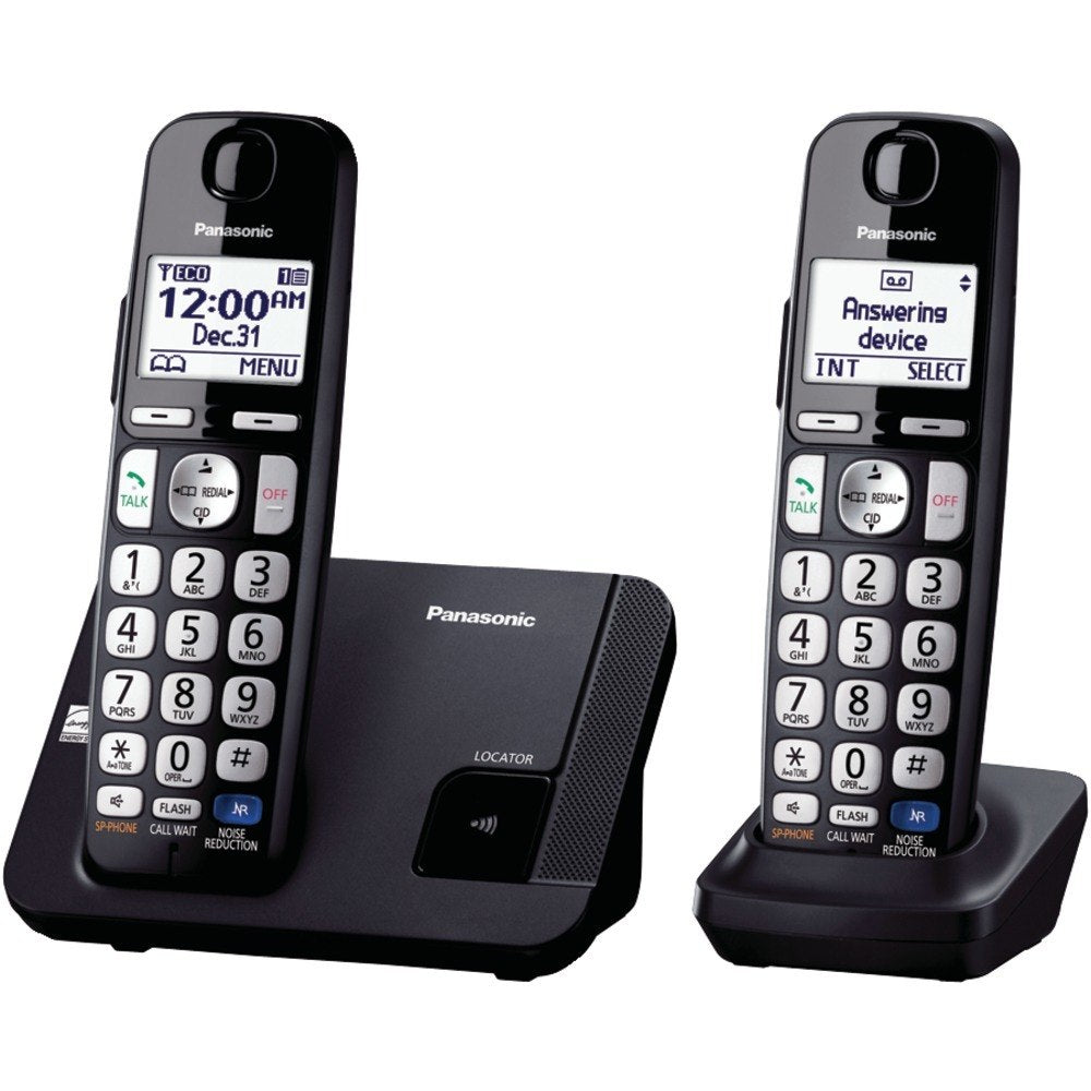 Panasonic KX-TGE212B DECT 6.0 Plus Amplified Expandable Digital Cordless Phone System (2-Handset System) (
