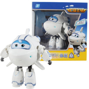 Big!!!15cm ABS Super Wings Deformation Airplane Robot Action Figures Super Wing Transformation toys for children gift Brinquedos