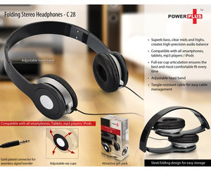 Folding Stereo Headphones - Power Plus C28