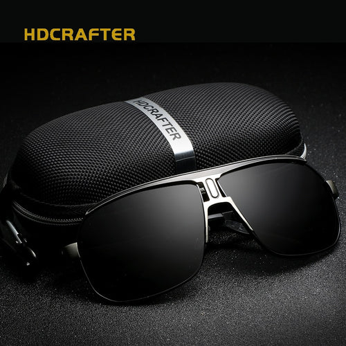 HDCRAFTER 2017 Brand designer Men Sunglasses square Vintage sun glasses Driving Glasses Eyewear for Men