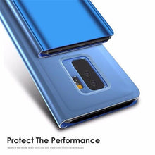 Mirror Flip Case For Samsung Galaxy A6 A5 A8 2018 J6 J2 J5 J7 Clear View Window Smart Cover For Galaxy S8 S9 Plus S7 Edge Note 8