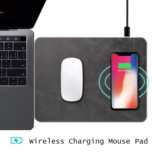 Qi Wireless Charger Mouse Pad for iPhone X 8 8 Plus Samsung Galaxy Note 8 S8 plus S7 Edge Ultra-thin Wireless Phone Charging Pad
