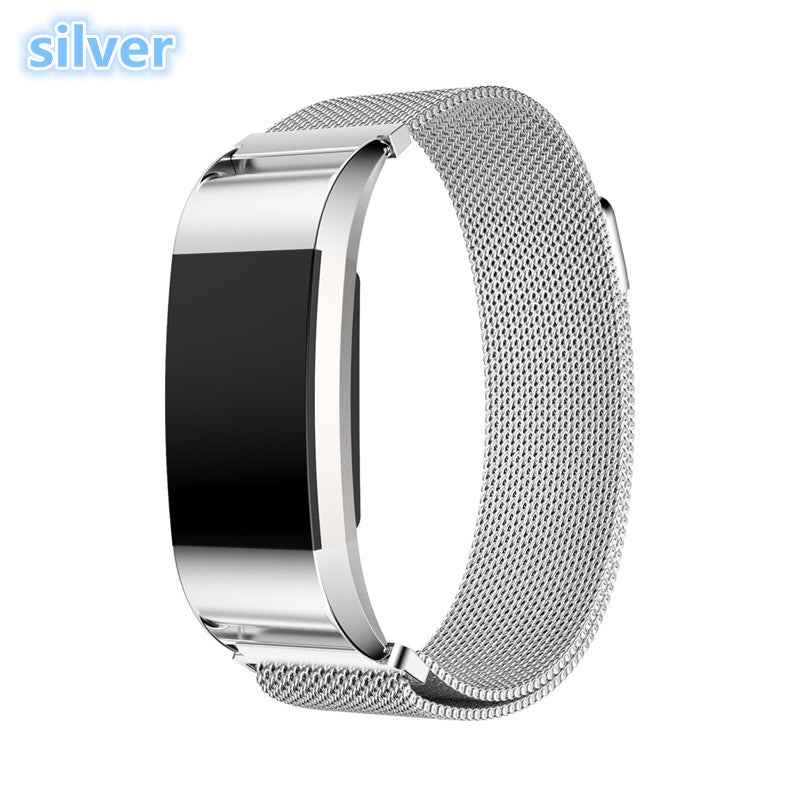 LNOP Milanese Loop strap for Fitbit Charge 2 band Magnetic wristband replacement Link Bracelet Stainless Steel smartwatch Band