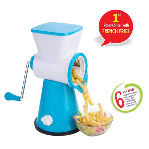 Multi Grader & Slicer 6 in1 Slicer, Green and Sky Blue