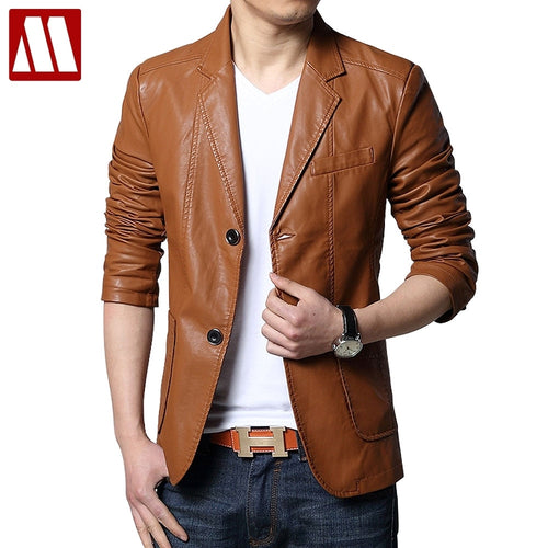 MYDBSH 2018 Large Size Brand New Spring Casual Blazer Men 5XL 6XL Black Slim Fit Mens Blazer Jacket Leather Suit Men Top Quality