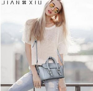 JIANXIU Brand High Quality Genuine Leather Handbag Female Luxury Handbags Women Bags Designer Small Crocodile Patte Shoulder Bag