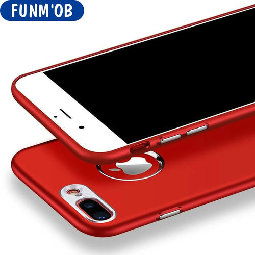 FUNM'OB Luxury Red Black Plating Soft Silicone Case For iphone 6 6s 7 8 Plus Metal TPU Phone Cover For iPhone X Capinha Coque