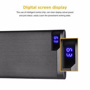 5V/2.1A 10000mah Power Bank Easyacc Ultra-thin Polymer LCD display Dual Output Type-C Ports External battery Powerbank