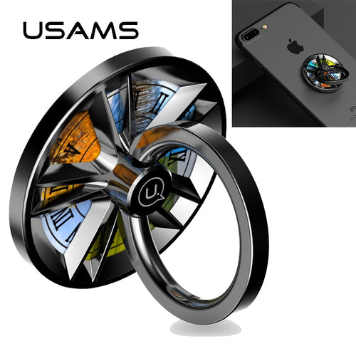 Finger Ring Holder USAMS Spinner Stand Cell Phone Grip Metal 360 Degree Support Universal for iPhone ipad Samsung Xiaomi