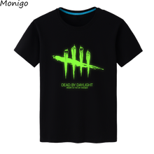Popular T-shirts Dead by Daylight tShirts Steam Game Luminous Short Sleeves Unisex Tee